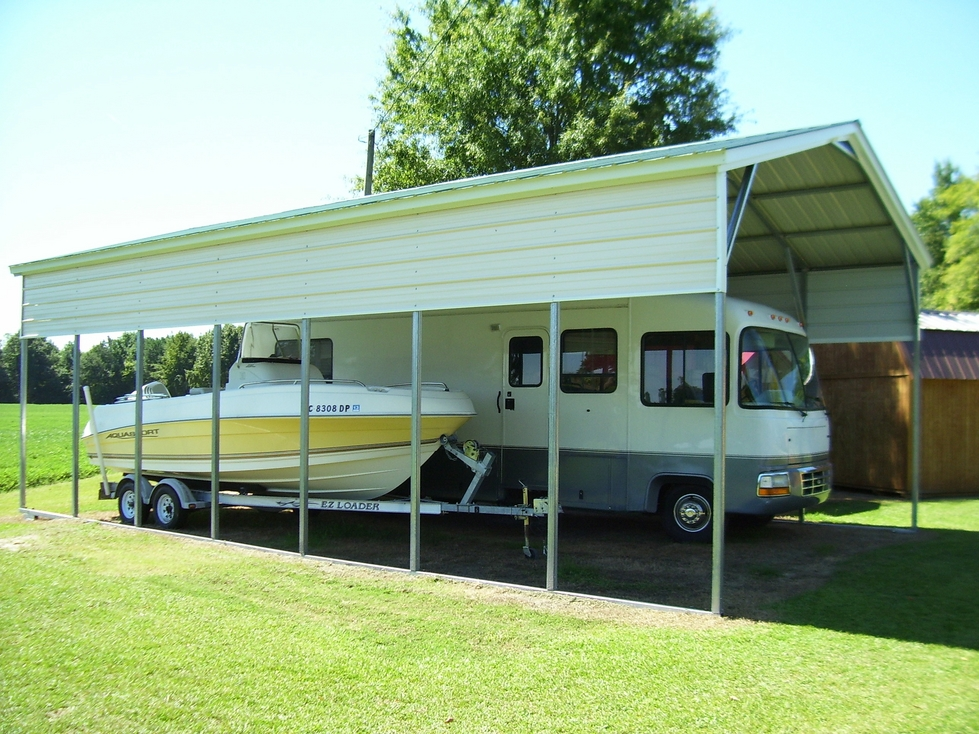 Metal buildings wholesale rv carports for Metal rv garage