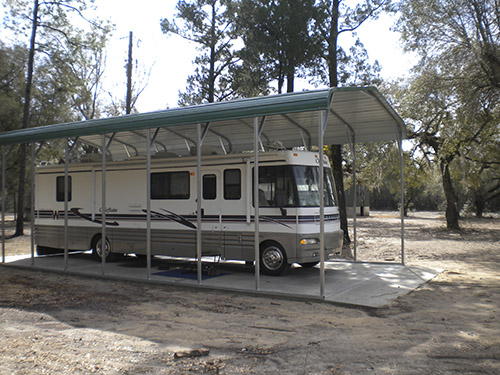 Metal buildings wholesale rv carports for Carports for motorhomes